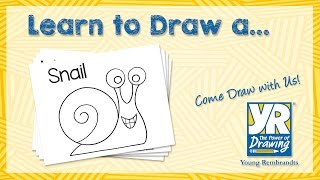 Teaching Kids How to Draw: How to Draw a Snail
