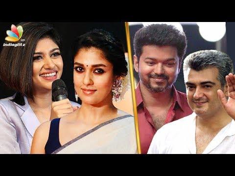 Thala - Thalapathy : Who is Oviya & Nayanthara's favorite? | Vijay, Ajith | Hot Tamil Cinema News thumbnail