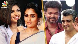 Thala - Thalapathy : Who is Oviya & Nayanthara's favorite? | Vijay, Ajith | Hot Tamil Cinema News