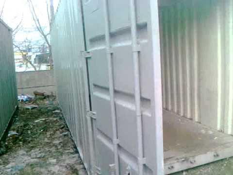 видео: Контейнер 20 футов 4штуки Киев