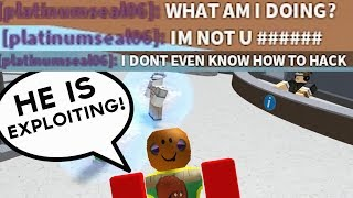 BLAMING SOMEONE ELSE FOR EXPLOITING!  ROBLOX EXPLOITING #87