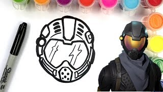 HOW TO DRAW ROGUE AGENT SKIN-FORTNITE