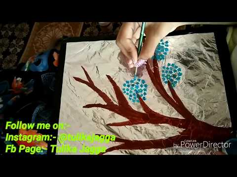 DIY Beautiful Silver Foil Scenery/Beautiful Craft Using Silver Foil/Art and Craft/#tulikajagga