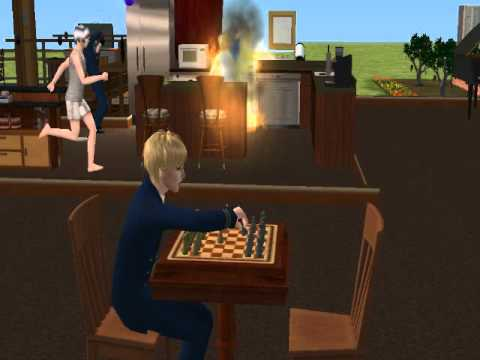 Sims 2 Hetalia - Fire in the Nordic's house