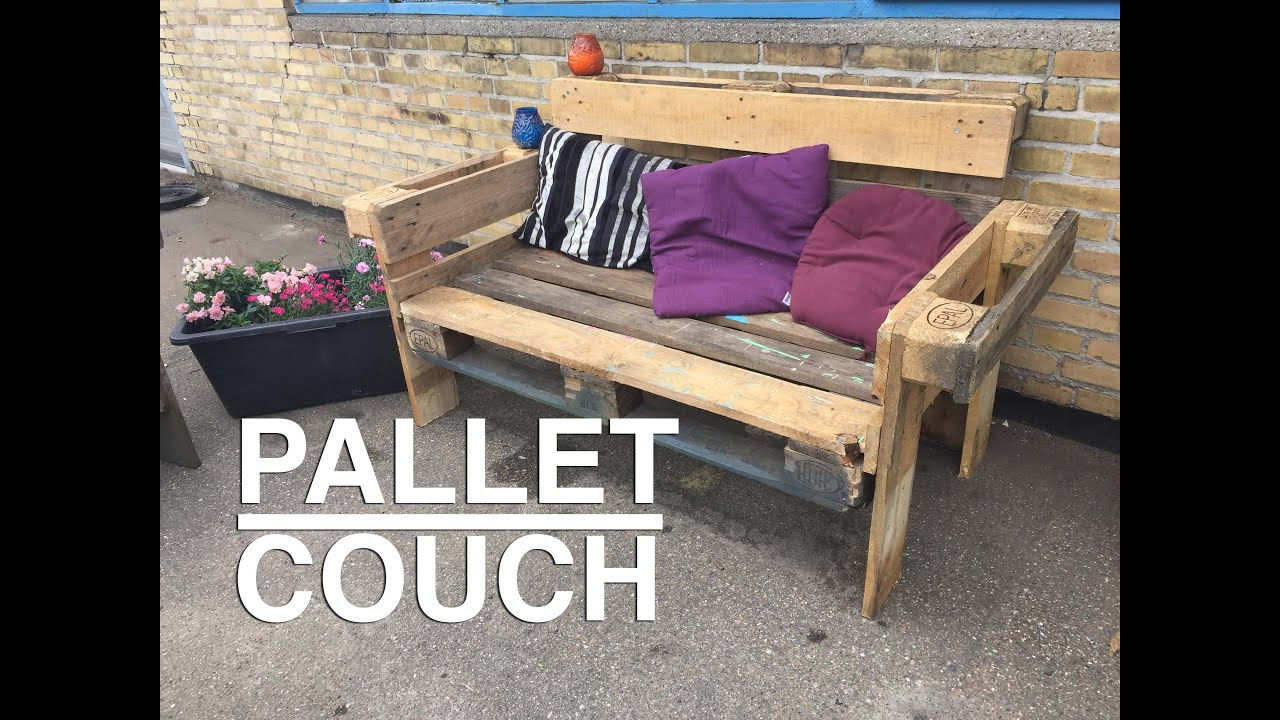 How To Make A Nice And Easy Upcycle Pallet Couch Youtube