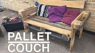 How to make a nice and easy upcycle Pallet Couch !