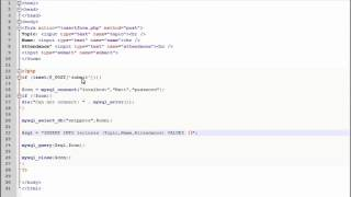 PHP Lesson 35 - Inserting Form Data into MySQL using PHP