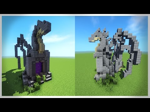 How to Build: DRAGON Nether Portal!