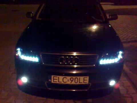 Audi A6 C5 Dayline Devil Eyes Lampy Led Diodowe Do Jazdy Dziennej Youtube