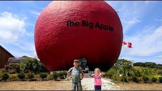 VLOG. По дороге в Квебек Канада. Играем в мини гольф. Trip to Quebec Canada  Big Apple Factory.