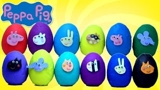 PEPPA PIG Play-Doh Surprise Eggs Opening and Counting