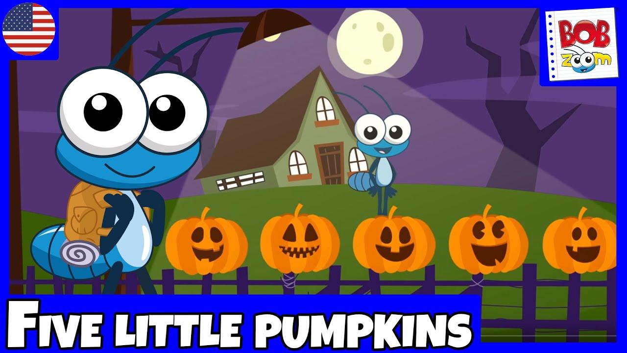 Bob Zoom - Five Little Pumpkins - English - YouTube