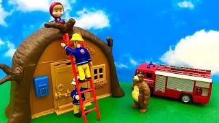 Strażak Sam i Masza i Niedzwiedz ☺ Pomocy Masza jest na dachu ☺ Bajka dla dzieci po POLSKU