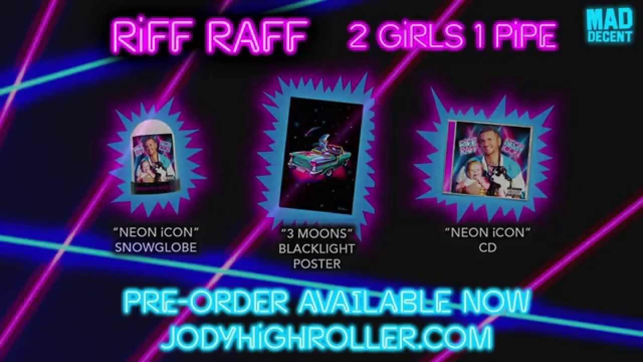 riff raff neon icon poster