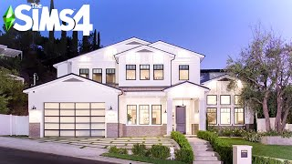 PERFECT LA FAMILY CRAFTSMAN HOME ~ Curb Appeal Recreation: Sims 4 Speed Build (No CC)