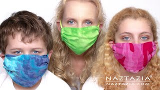 HOW to MAKE a FACE MASK  - Easy NO SEW or SEW for the Family Masks Made with Household Items