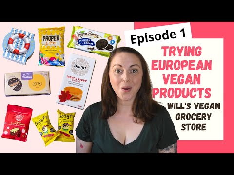 Trying European Vegan Products Episode 1 - Will's Vegan Grocery Store