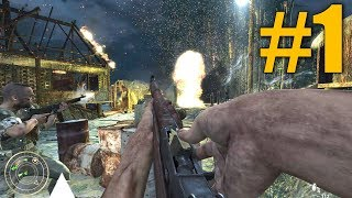 Call of Duty: World at War Walkthrough - Part 1 - Semper Fi (Campaign - PC Ultra Settings)