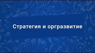 Дистанционное обучение по теме «Стратегия и оргразвитие»