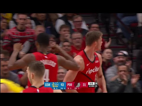 2nd Quarter, One Box Video: Portland Trail Blazers vs. Golden State Warriors