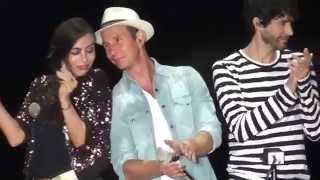 sasha, benny y erick en san juan del río, cantando tonto corazon
