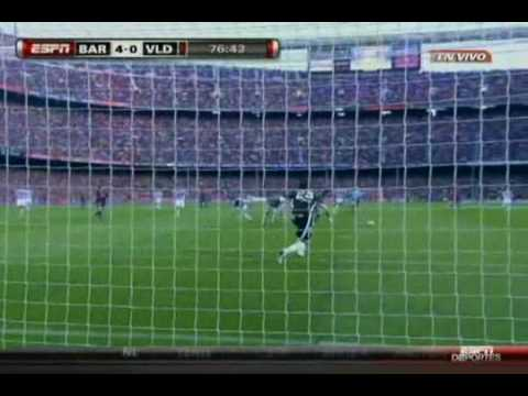 FC Barcelona 4-0 Real Valladolid [16MAY10] (Gol de Messi 76')