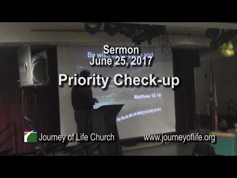 Priority Check-up (sermon June 25, 2017)