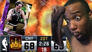 DOUBLE OVERTIME! MOST INTENSE GAME EVER! Amethyst Larry Bird! NBA 2k16 MyTeam Gameplay