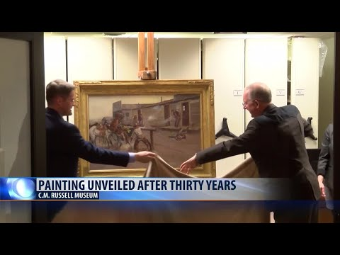 C.M. Russell Museum unveils painting after thirty years
