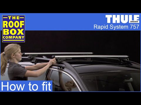 thule rapid system roof rail clamps 757 youtube. Black Bedroom Furniture Sets. Home Design Ideas