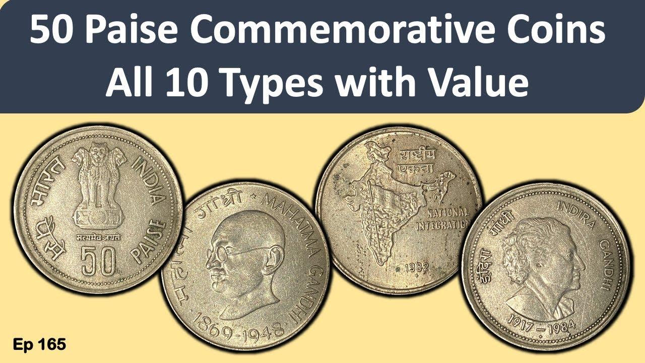 Download Ep 165: Commemorative Coins of 50 Paise * All Types with Value