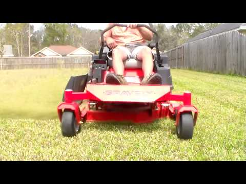 Gravely Zero Turn Lawn Mower with Cross Blades - X Blade Mowing