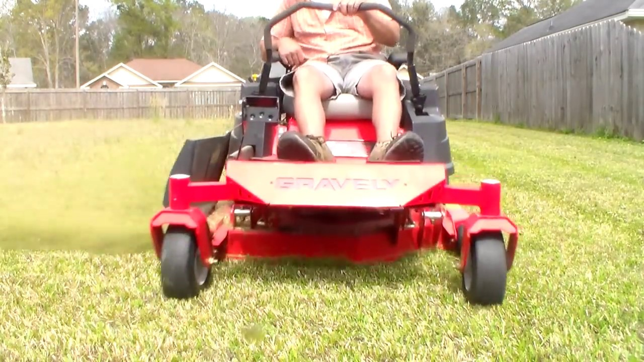 Gravely Zero Turn Lawn Mower With Cross Blades X Blade