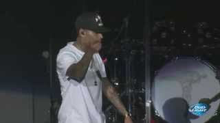 Chris Brown performing quot;New Flamequot; at Cali Christmas Festival  Los Angeles