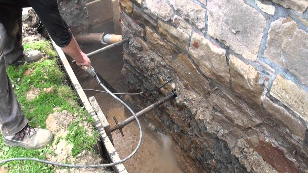 Außenwandsanierung, Drainage Mit Pumpenschacht Einbau - Firma K