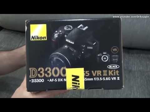 Unboxing Nikon D3300 (DX-Format, EXPEED 4, NIKKOR 18-55mm) news video full hd compra teste cinema