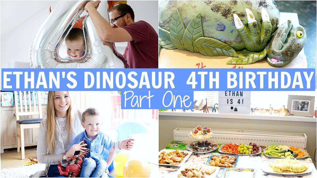 A DINOSAUR THEMED BIRTHDAY PARTY | ETHAN'S 4TH BIRTHDAY ...