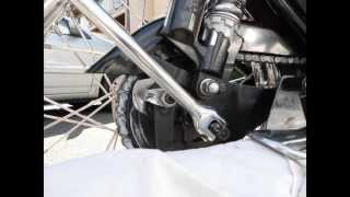 Chain Adjustment of Royal Enfield Motorcycle