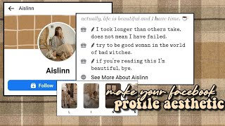 how to make your facebook profile (soft) aesthetic screenshot 2