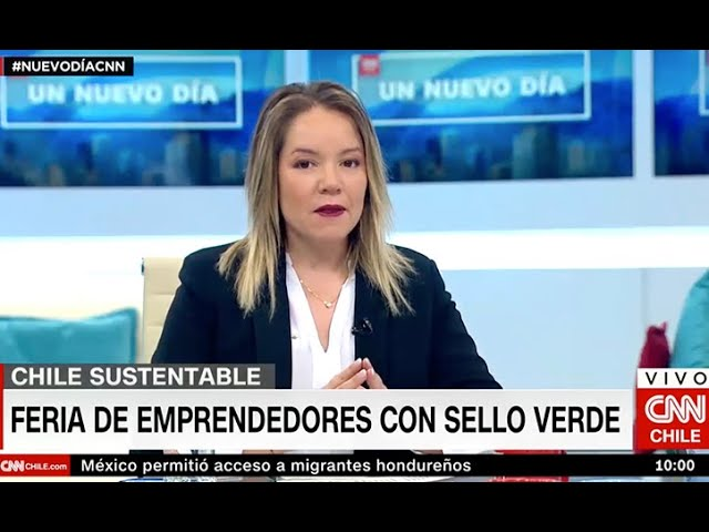 Cata Droguett CNN - Feria emprendedores sello verde