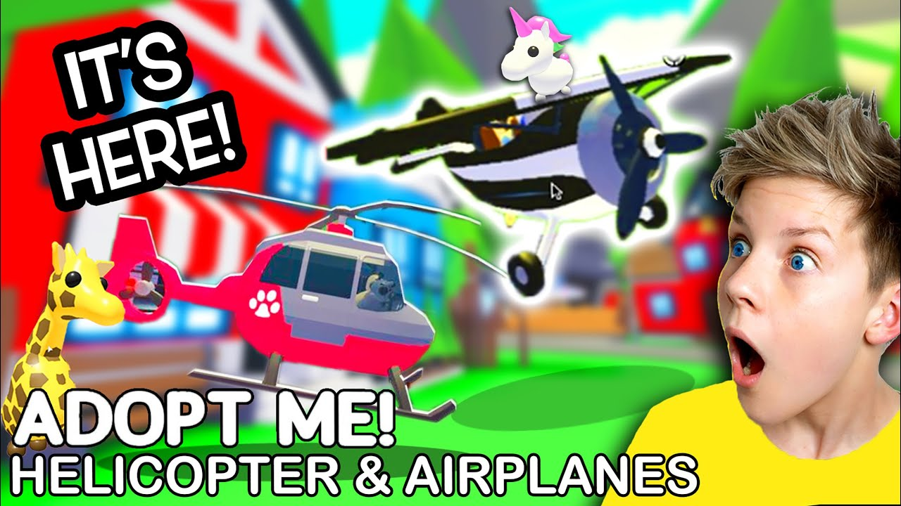 *IT'S HERE* Adopt Me AIRPLANE and HELICOPTER Update!