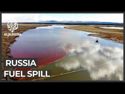 Russia's 20,000-tonne diesel spill pollutes waterways in Siberia