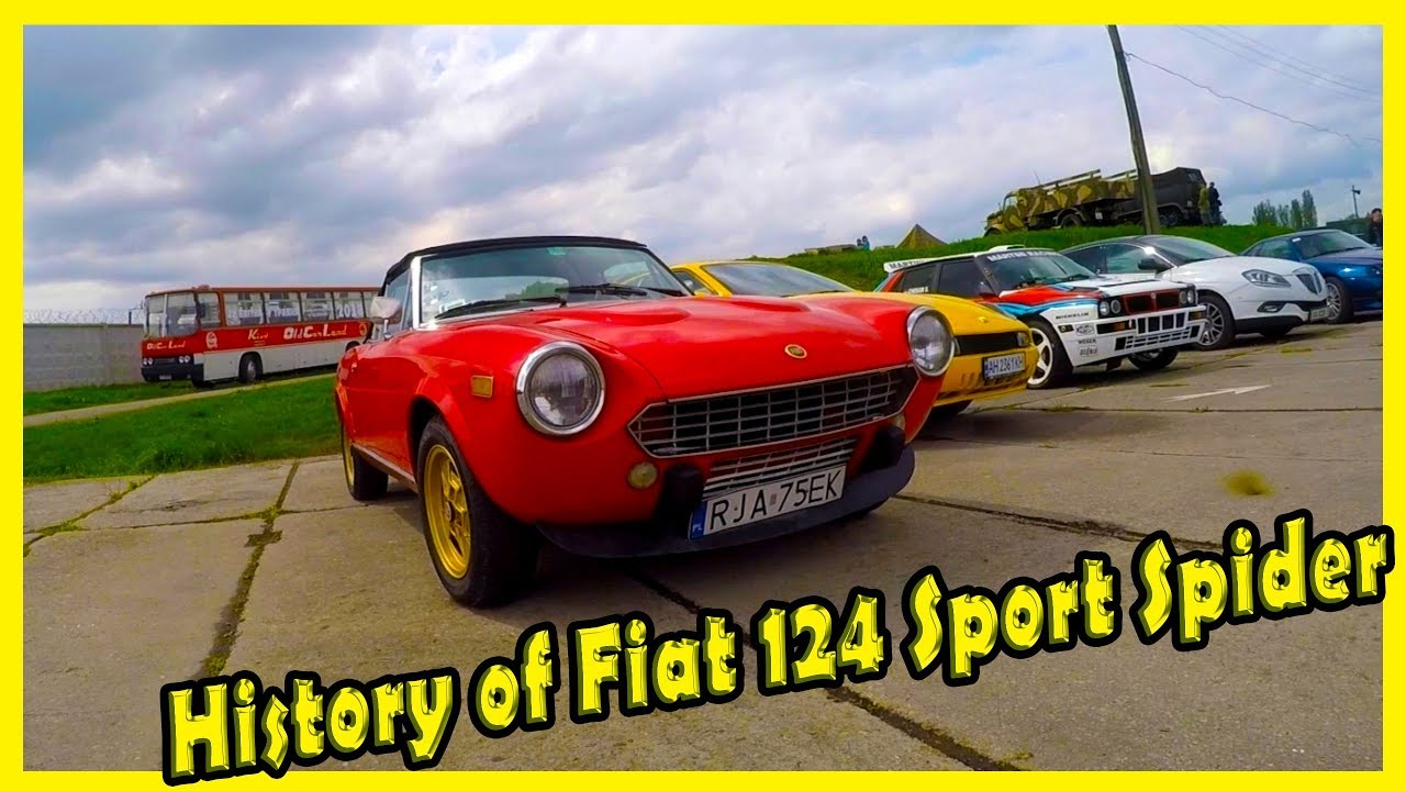 History Of Old Italian Roadster Fiat 124 Sport Spider 2000 Classic