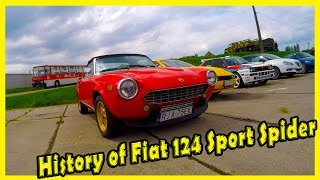 History of Old Italian Roadster Fiat 124 Sport Spider 2000. Classic Italian Sport Cars Review
