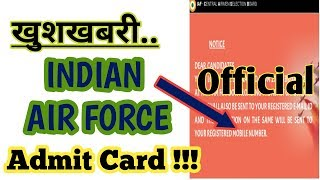 Indian Airforce Admit Card   Official Update..😀😎   Airforce X&Y Group 2019