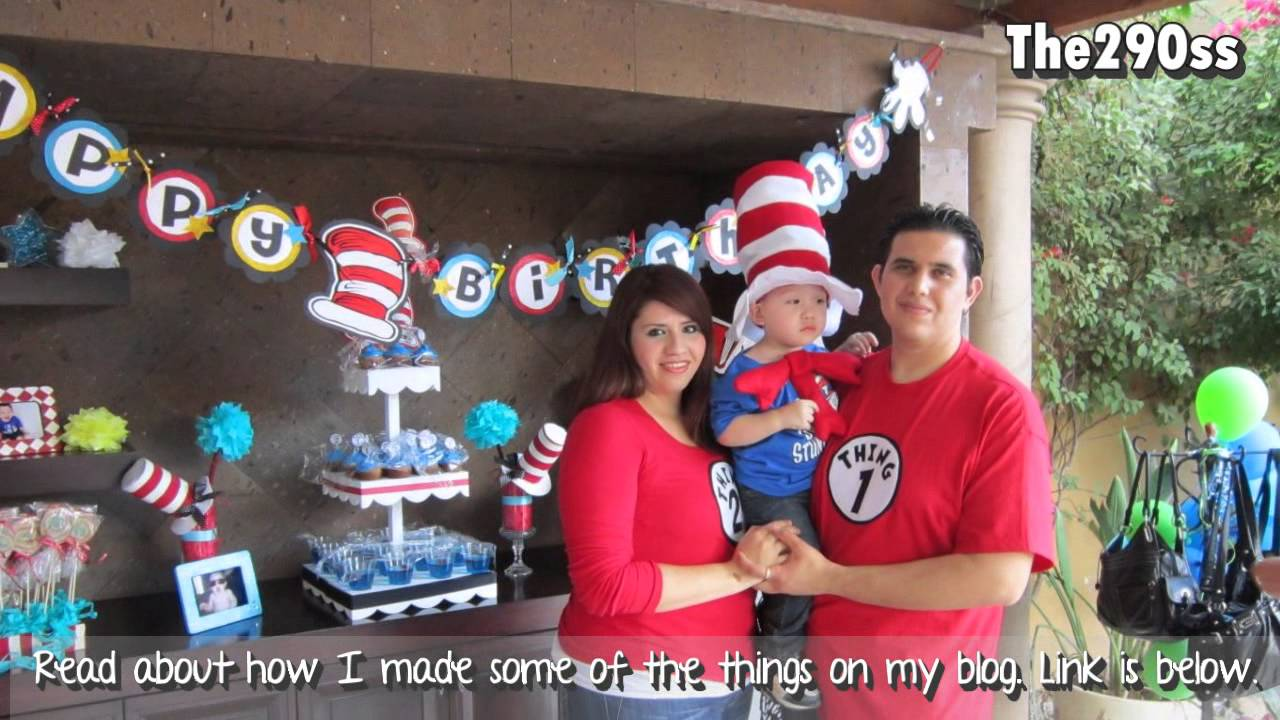 2nd Birthday Decoration The Cat In The Hat Theme Youtube