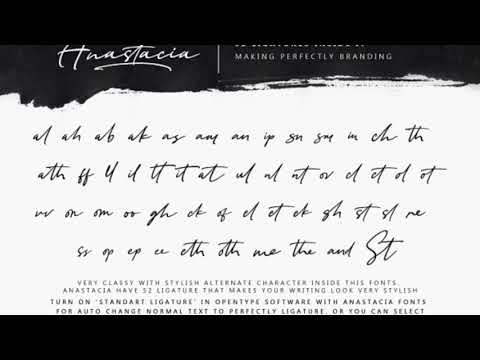 Anastacia, signature font