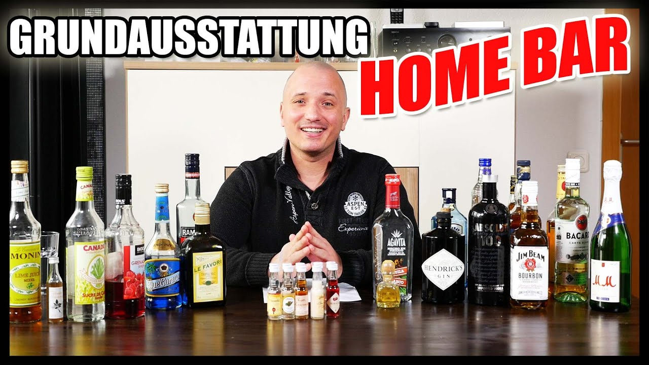 grundausstattung f r die bar zuhause youtube. Black Bedroom Furniture Sets. Home Design Ideas