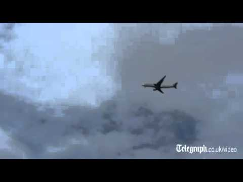 Footage of the bomb-threat jet intercepted by an RAF Tornado
