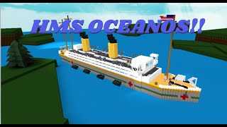 THE HMS OCEANIC!! | Build a Boat for Treasure | Roblox
